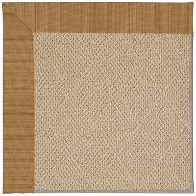 Zoe Machine Tufted Golden Indoor/Outdoor Area Rug Rug Size: Round 12 x 12