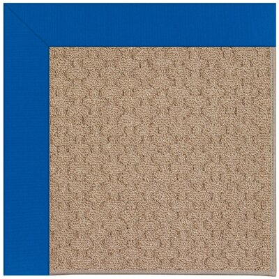 Zoe Grassy Mountain Machine Tufted Reef Blue/Brown Indoor/Outdoor Area Rug Rug Size: Square 4