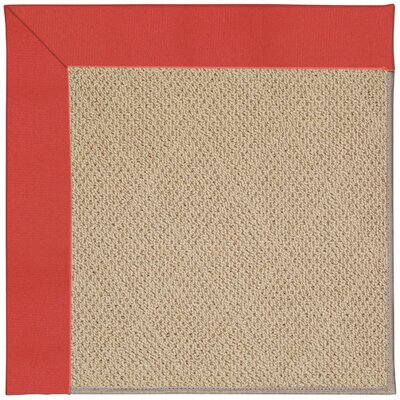 Zoe Machine Tufted Sunset Red/Brown Indoor/Outdoor Area Rug Rug Size: Square 8