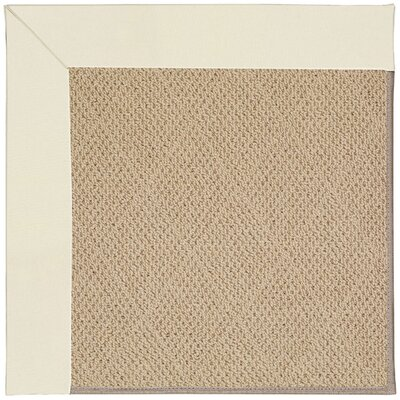 Zoe Machine Tufted Alabaster/Beige Indoor/Outdoor Area Rug Rug Size: Round 12 x 12