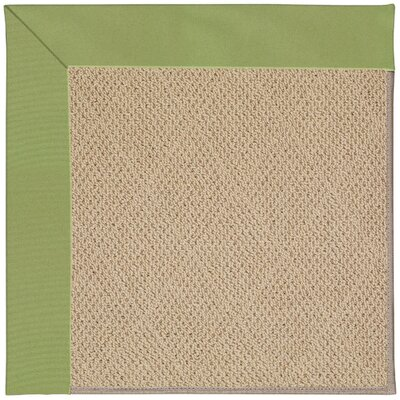 Zoe Machine Tufted Green/Brown Indoor/Outdoor Area Rug Rug Size: Square 4