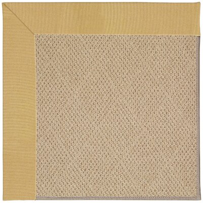 Zoe Machine Tufted Wheatfield/Beige Indoor/Outdoor Area Rug Rug Size: Square 6