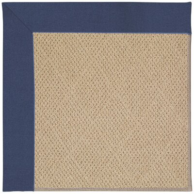 Zoe Machine Tufted Blue/Brown Indoor/Outdoor Area Rug Rug Size: Round 12 x 12