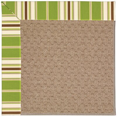 Zoe Grassy Mountain Machine Tufted Green/Brown Indoor/Outdoor Area Rug Rug Size: 7 x 9