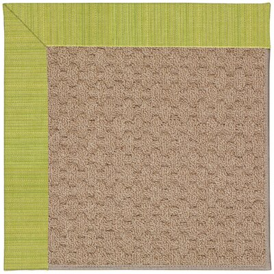Zoe Grassy Mountain Machine Tufted Pea Pod/Brown Indoor/Outdoor Area Rug Rug Size: Square 4