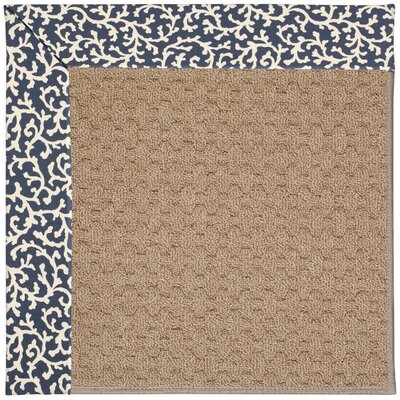 Zoe Grassy Mountain Machine Tufted Midnight/Brown Indoor/Outdoor Area Rug Rug Size: Round 12 x 12