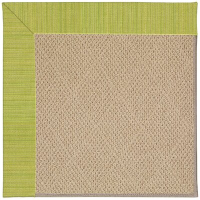 Zoe Machine Tufted Pea Pod/Brown Indoor/Outdoor Area Rug Rug Size: Round 12 x 12