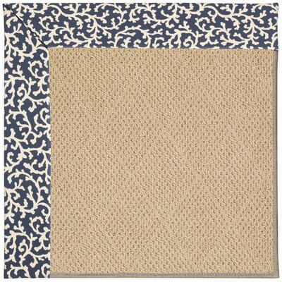 Zoe Machine Tufted Midnight/Brown Indoor/Outdoor Area Rug Rug Size: Round 12 x 12