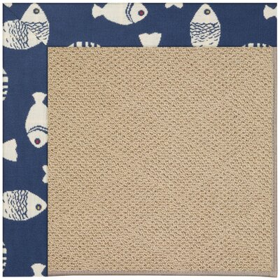 Zoe Machine Tufted Pitch/Brown Indoor/Outdoor Area Rug Rug Size: Square 4