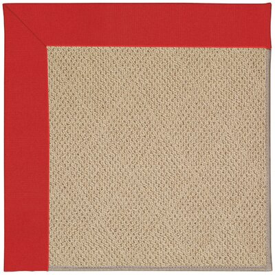 Zoe Machine Tufted Red/Beige Indoor/Outdoor Area Rug Rug Size: 12 x 15