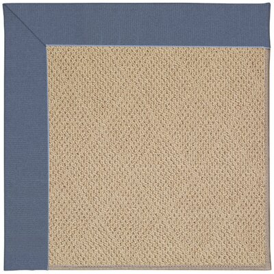 Zoe Machine Tufted Azure/Brown Indoor/Outdoor Area Rug Rug Size: 7 x 9