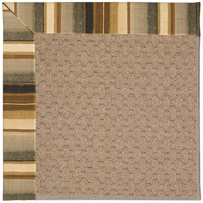 Zoe Grassy Mountain Machine Tufted Cinders/Brown Indoor/Outdoor Area Rug Rug Size: Square 8