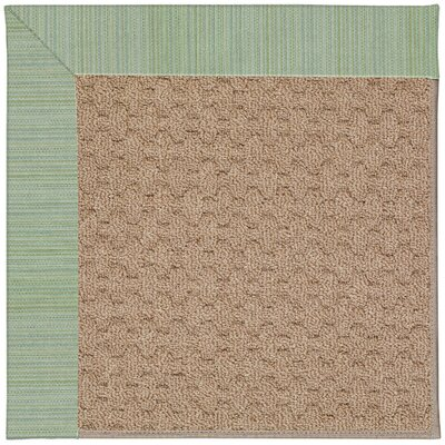 Zoe Grassy Mountain Machine Tufted Green Spa/Brown Indoor/Outdoor Area Rug Rug Size: Square 6
