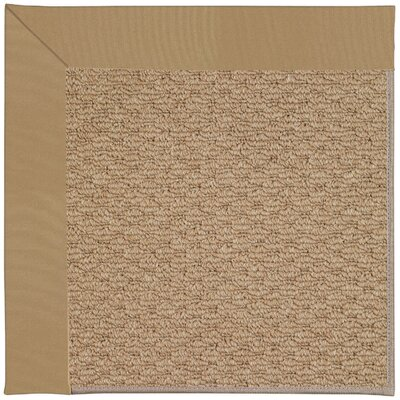Zoe Machine Tufted Light Gold Indoor/Outdoor Area Rug Rug Size: Round 12 x 12