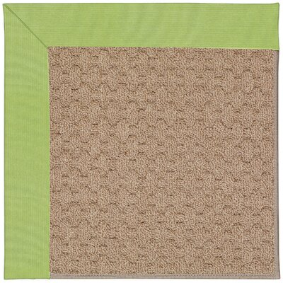 Zoe Machine Tufted Parakeet/Brown Indoor/Outdoor Area Rug Rug Size: Round 12 x 12
