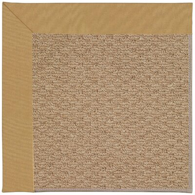 Zoe Machine Tufted Bronze Indoor/Outdoor Area Rug Rug Size: Square 6