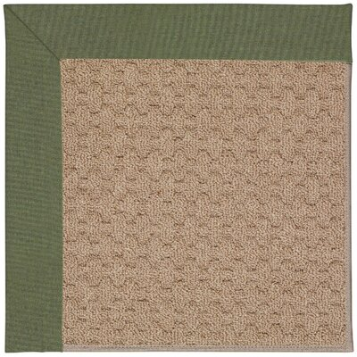 Zoe Grassy Mountain Machine Tufted Plant Green/Brown Indoor/Outdoor Area Rug Rug Size: Square 4
