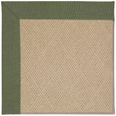 Zoe Machine Tufted Plant Green and Beige Indoor/Outdoor Area Rug Rug Size: Round 12 x 12