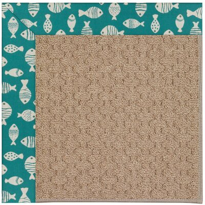 Zoe Grassy Mountain Machine Tufted Green/Brown Indoor/Outdoor Area Rug Rug Size: 5 x 8