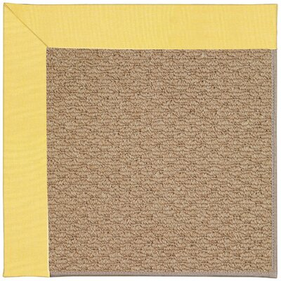 Zoe Machine Tufted Yellow/Brown Indoor/Outdoor Area Rug Rug Size: Square 10