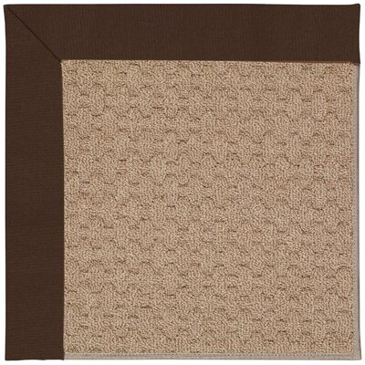 Zoe Grassy Mountain Machine Tufted Dark Chocolate/Brown Indoor/Outdoor Area Rug Rug Size: Square 4