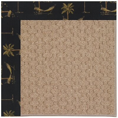 Zoe Grassy Mountain Machine Tufted Jet Black Indoor/Outdoor Area Rug Rug Size: Square 4