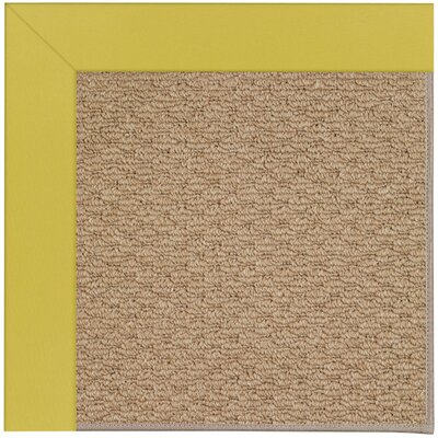Zoe Machine Tufted Yellow/Brown Indoor/Outdoor Area Rug Rug Size: 7 x 9