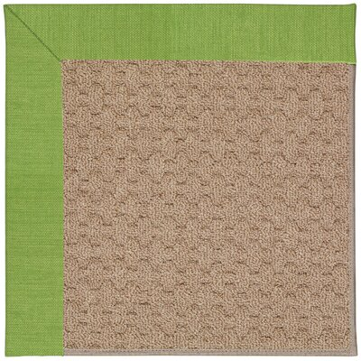 Zoe Machine Tufted Green/Brown Indoor/Outdoor Area Rug Rug Size: Square 6