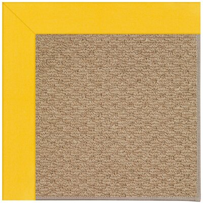 Zoe Machine Tufted Summertime Yellow/Brown Indoor/Outdoor Area Rug Rug Size: Round 12 x 12
