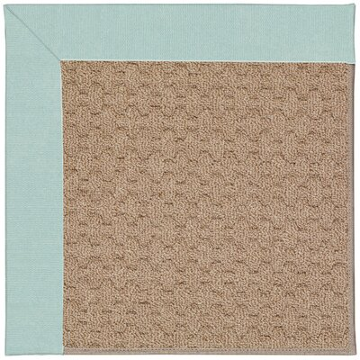 Zoe Grassy Mountain Machine Tufted Iceberg/Brown Indoor/Outdoor Area Rug Rug Size: Round 12 x 12