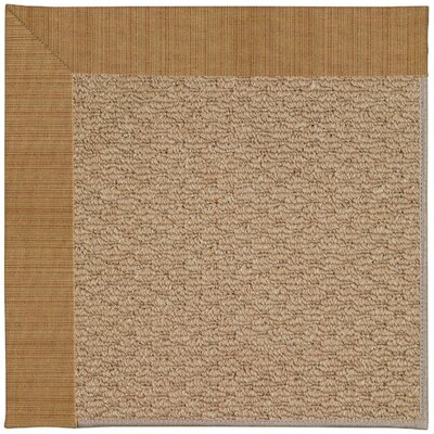 Zoe Machine Tufted Golden Indoor/Outdoor Area Rug Rug Size: Square 4