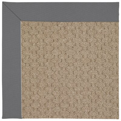 Zoe Grassy Mountain Machine Tufted Ash Indoor/Outdoor Area Rug Rug Size: Round 12 x 12