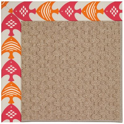 Zoe Grassy Mountain Machine Tufted Autumn/Brown Indoor/Outdoor Area Rug Rug Size: Round 12 x 12