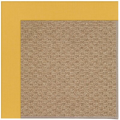 Zoe Machine Tufted Yellow/Brown Indoor/Outdoor Area Rug Rug Size: Square 4