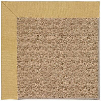 Zoe Machine Tufted Wheatfield/Brown Indoor/Outdoor Area Rug Rug Size: Square 8