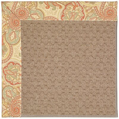 Zoe Machine Tufted Auburn/Brown Indoor/Outdoor Area Rug Rug Size: Square 10