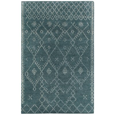 Fortress Blue Diamond Area Rug Rug Size: 3 x 5