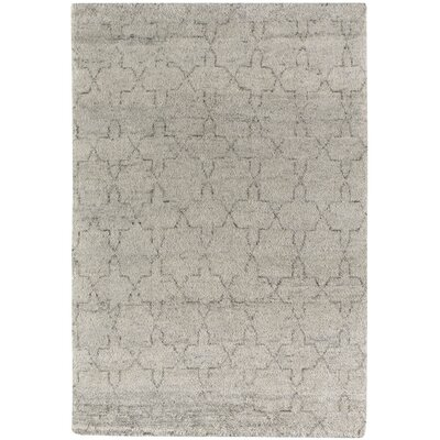 Fortress Star Hand-Knotted Gray Area Rug Rug Size: 5 x 8