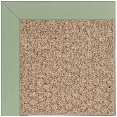 Zoe Grassy Mountain Machine Tufted Green/Brown Indoor/Outdoor Area Rug Rug Size: Square 4