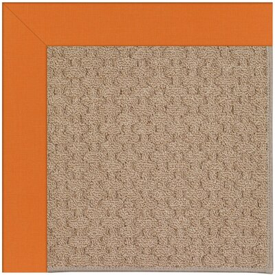 Zoe Grassy Mountain Machine Tufted Clementine/Brown Indoor/Outdoor Area Rug Rug Size: Round 12 x 12