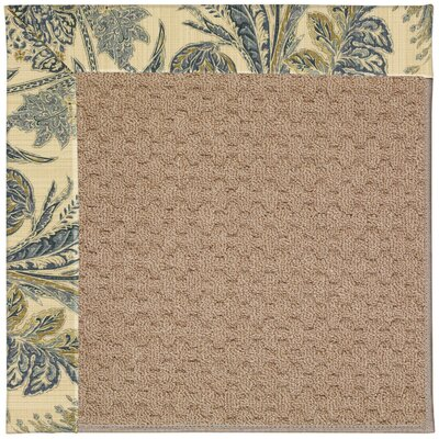 Zoe Grassy Mountain Machine Tufted High Seas/Brown Indoor/Outdoor Area Rug Rug Size: Round 12 x 12