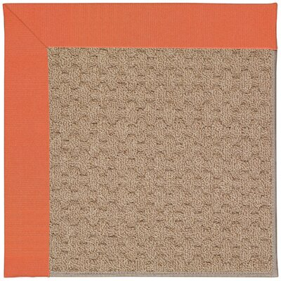 Zoe Grassy Mountain Machine Tufted Sorrel/Brown Indoor/Outdoor Area Rug Rug Size: 9 x 12
