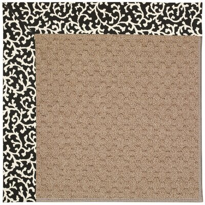 Zoe Grassy Mountain Machine Tufted Black Cascade/Brown Indoor/Outdoor Area Rug Rug Size: Round 12 x 12