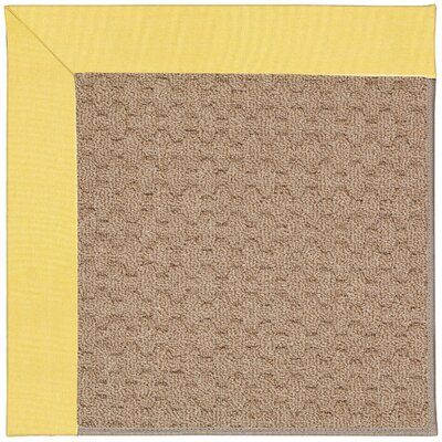 Zoe Grassy Mountain Machine Tufted Yellow/Brown Indoor/Outdoor Area Rug Rug Size: Square 4