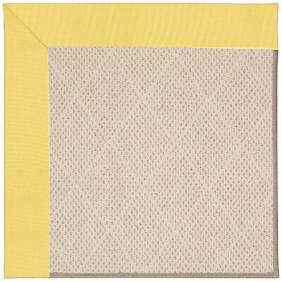 Zoe Light Brown Indoor/Outdoor Area Rug Rug Size: Square 4'