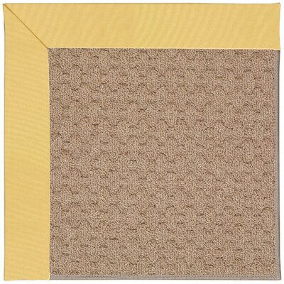 Zoe Grassy Mountain Machine Tufted Lemon/Brown Indoor/Outdoor Area Rug Rug Size: Round 12 x 12