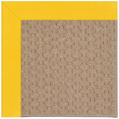 Zoe Grassy Mountain Machine Tufted Summertime Yellow/Brown Indoor/Outdoor Area Rug Rug Size: 5 x 8