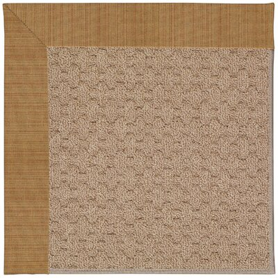 Zoe Grassy Mountain Machine Tufted Golden/Brown Indoor/Outdoor Area Rug Rug Size: Round 12' x 12'