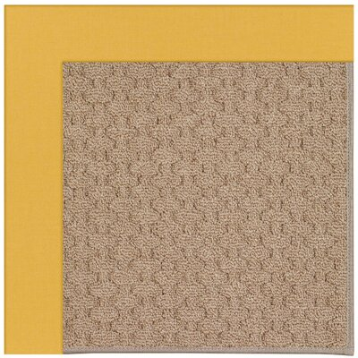 Zoe Grassy Mountain Machine Tufted Jonquil/Brown Indoor/Outdoor Area Rug Rug Size: Round 12 x 12