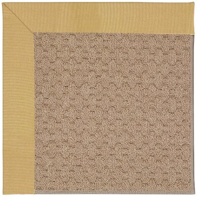Zoe Grassy Mountain Machine Tufted Wheatfield/Brown Indoor/Outdoor Area Rug Rug Size: Square 4